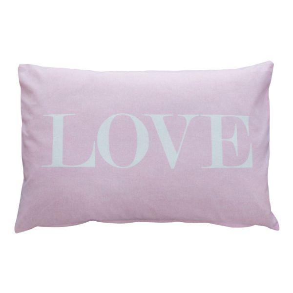 Kissenüberzug LOVE rosa