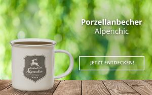 Porzellanbecher Alpenchic
