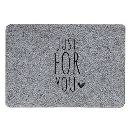 Tischset Filz grau - Just for you