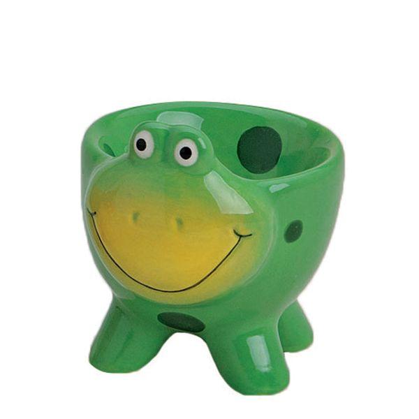 Eierbecher Porzellan Frosch gruen