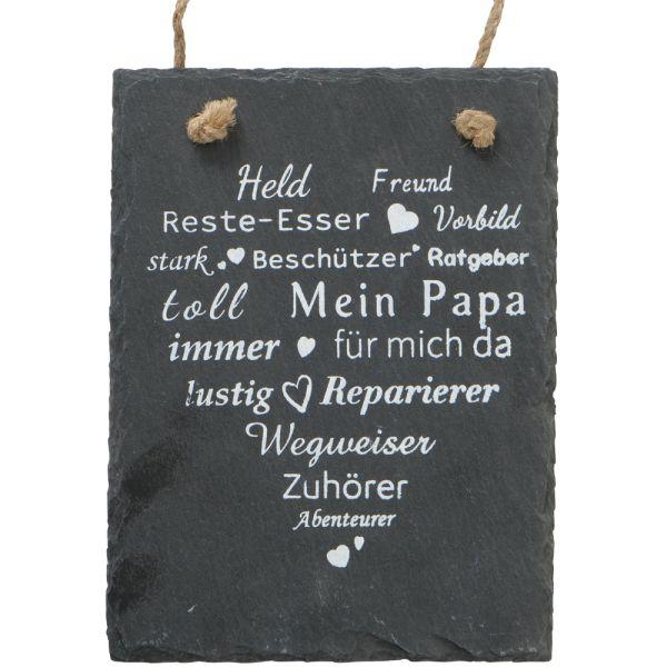 Dekobild Schiefer schwarz Papa