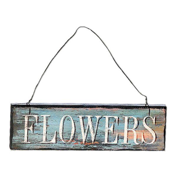 Holzschild Dekoschild Flowers