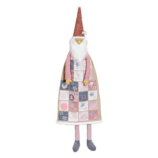Textil-Adventskalender Nikolaus rosa