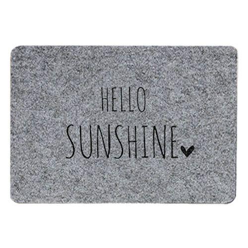 Tischset Filz grau - Hello sunshine