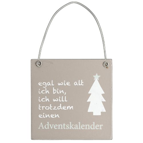 Holzschild Weihnachtsdekor taupe Adventskalender