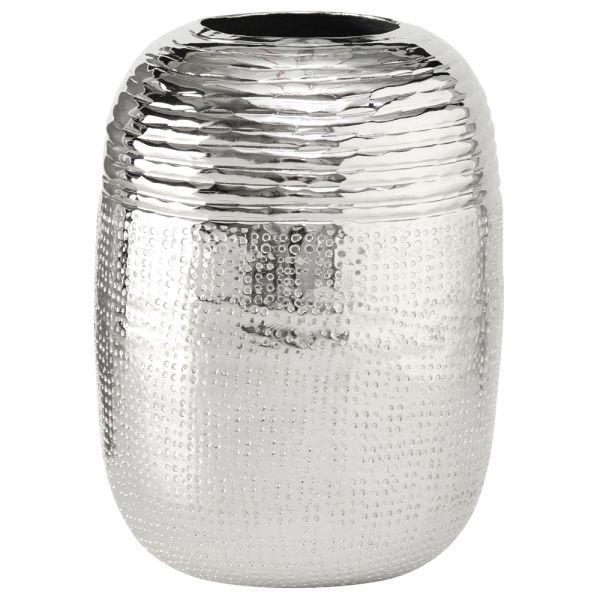 Vase Aluminium rund silber - Zylinder