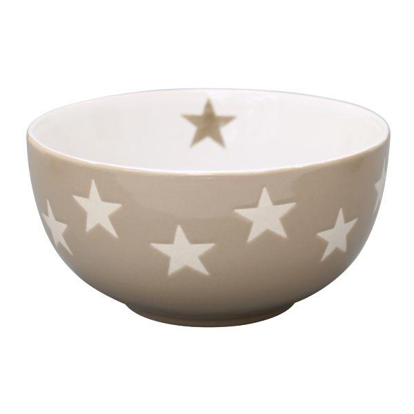 Schale Star taupe
