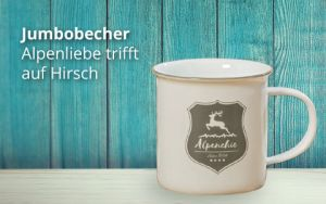 Porzellanbecher Alpenchic Hirsch