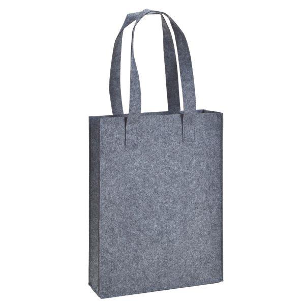 Filz-Tasche mit Henkel grau