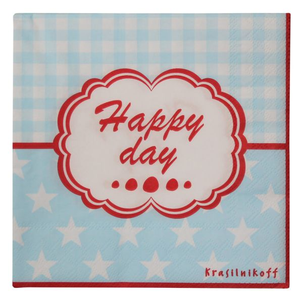 Papier-Serviette hellblau Happy Day