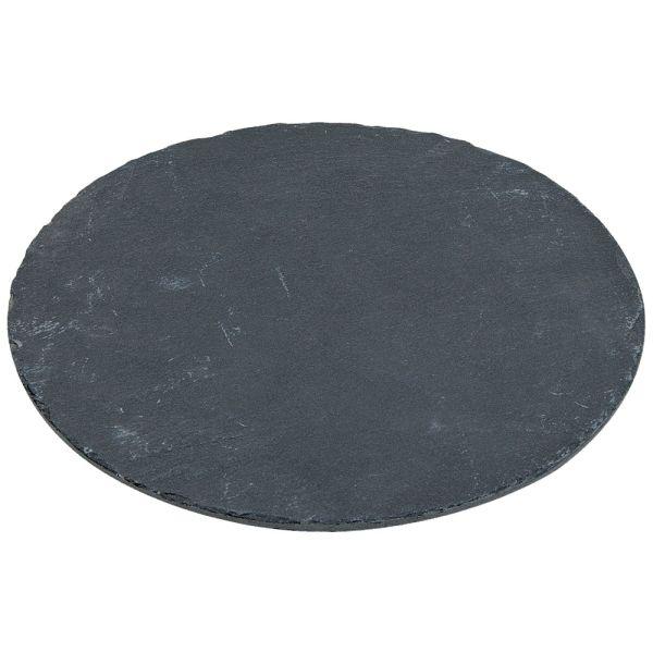 Serviertablett Schiefer schwarz - 20 cm - Landhausstil