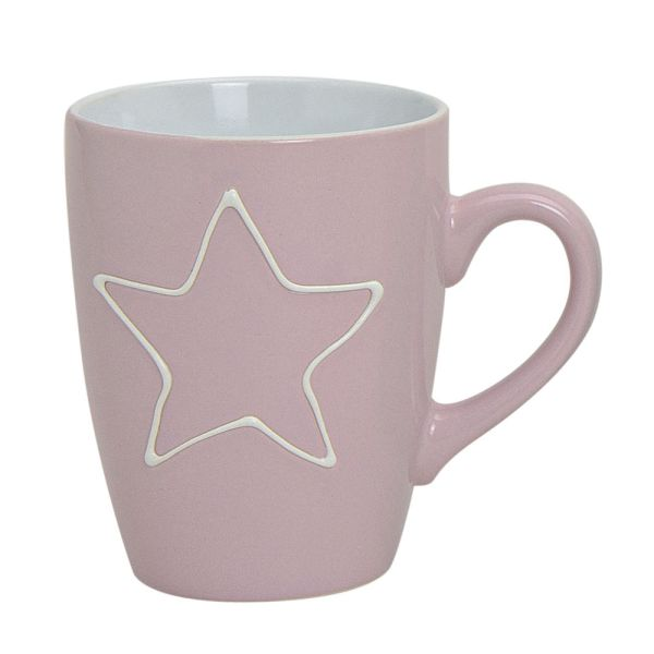 Becher Tasse Stern rosa