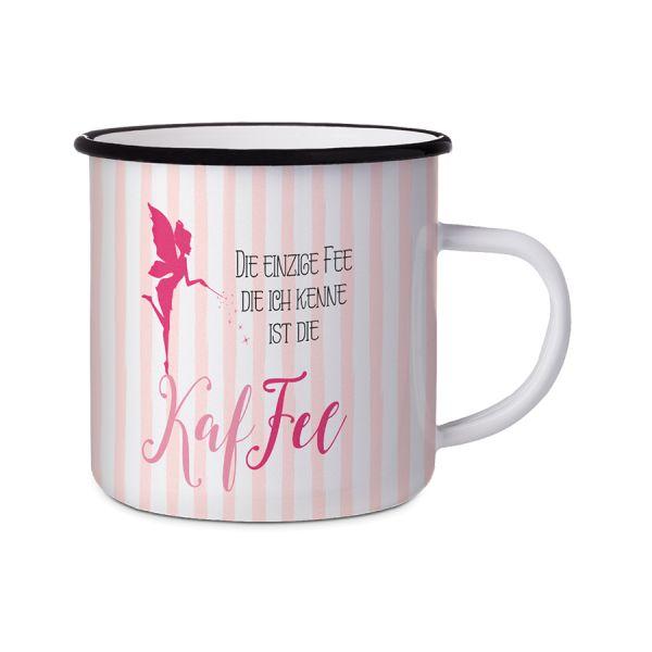 Emaillebecher KafFee rosa