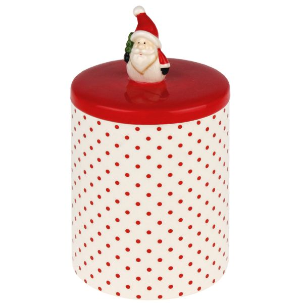 Porzellandose Santa Claus rot weiss