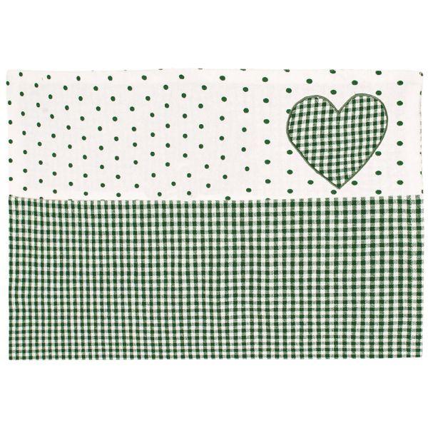 Tischset aus Baumwolle - Landhausstil - grün-weiss kariert