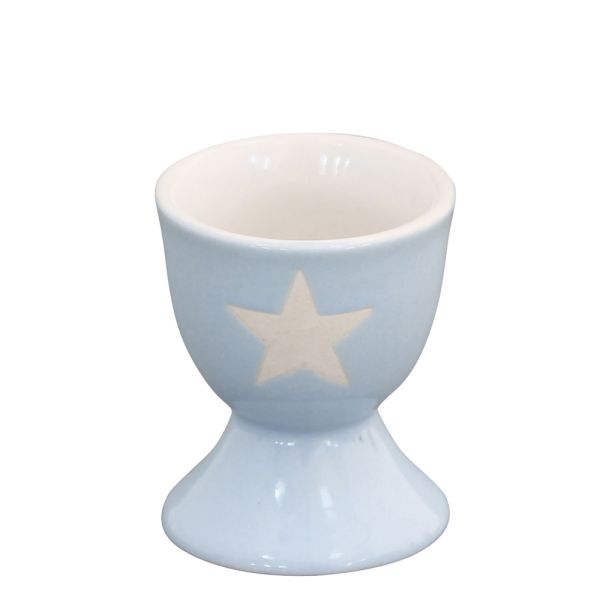 Eierbecher Star hellblau