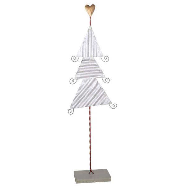 Deko-Weihnachtsbaum Metall silber