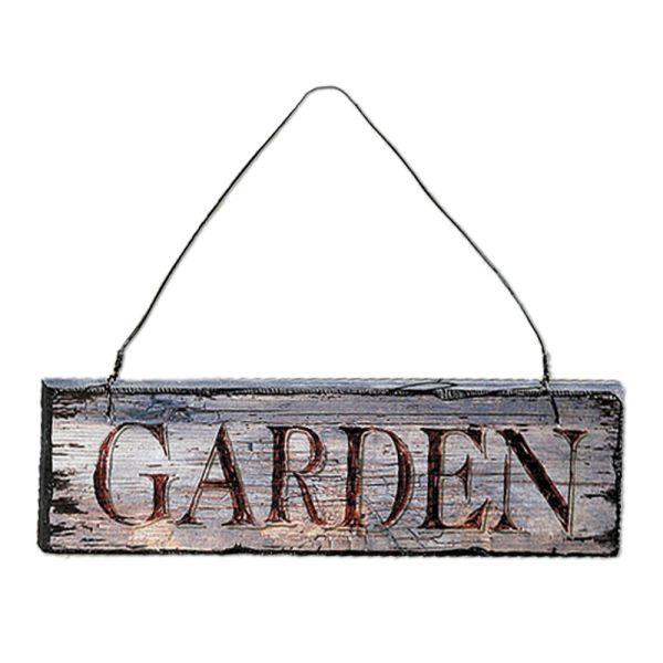 Holzschild Dekoschild Garden