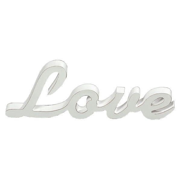 Schriftzug Love Holz weiss