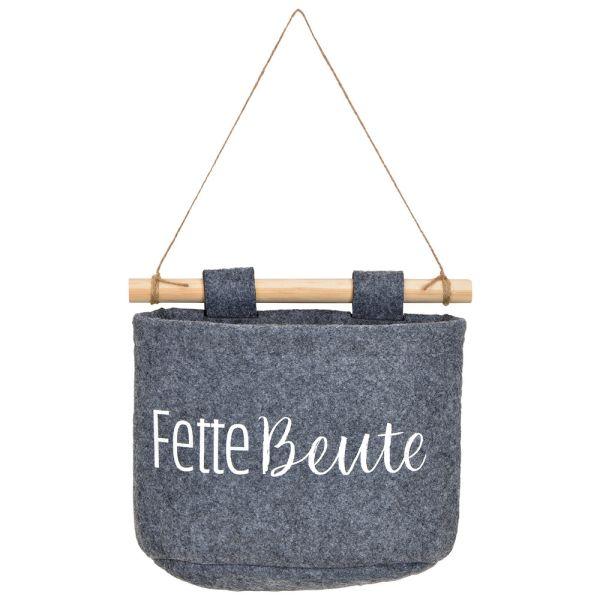 Hänge-Korb Filz grau - Fette Beute