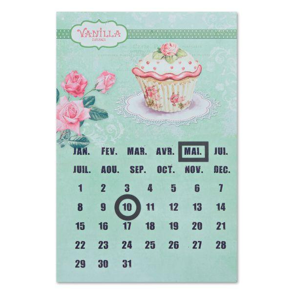 Dauerkalender Metallschild Cupcake grün