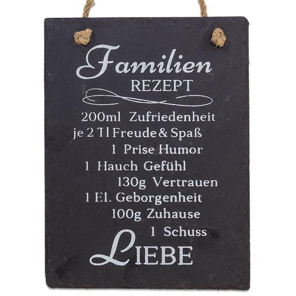 Dekobild Schiefer schwarz Familienrezept