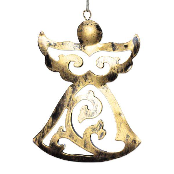 Christbaumanhaenger Engel Metall gold gross