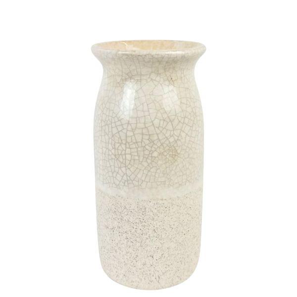 Vase Landhaus Keramik beige Craqueleoptik