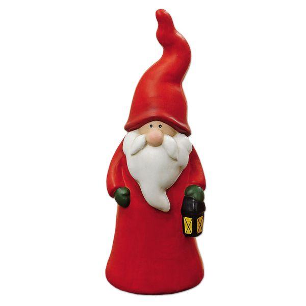 Weihnachtsmann mit Laterne - rot