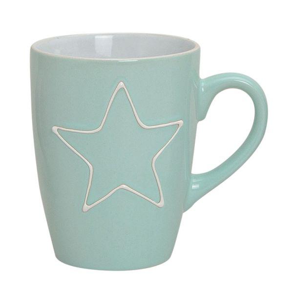 Becher Tasse Stern hellgrün
