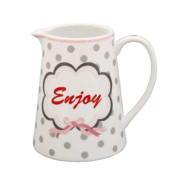 Milchkännchen Porzellan weiss Enjoy