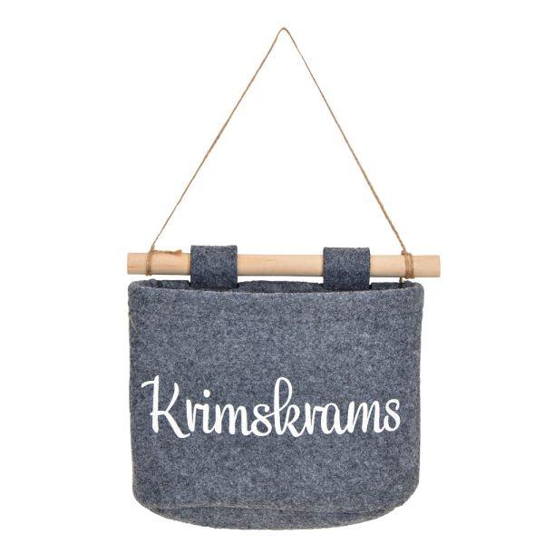 Hänge-Korb Filz grau - Krimskrams