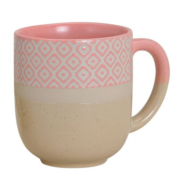 Porzellanbecher Landliebe beige-rosa