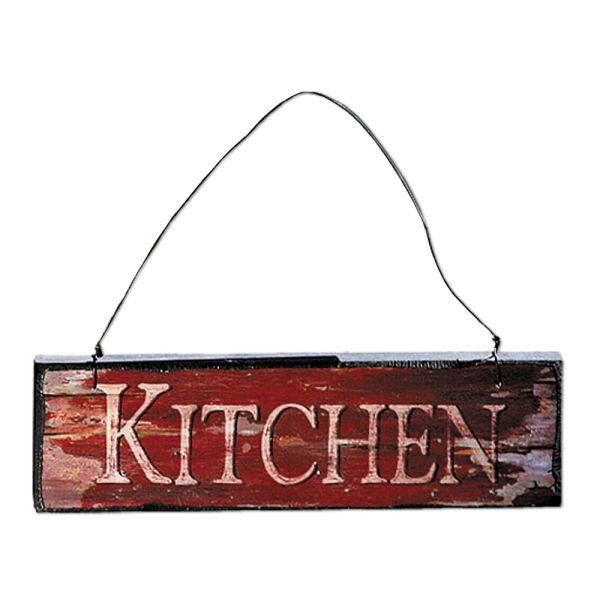 Holzschild Dekoschild Kitchen