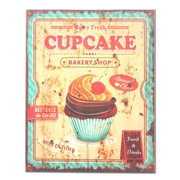 Holzbild Dekobild Cupcake