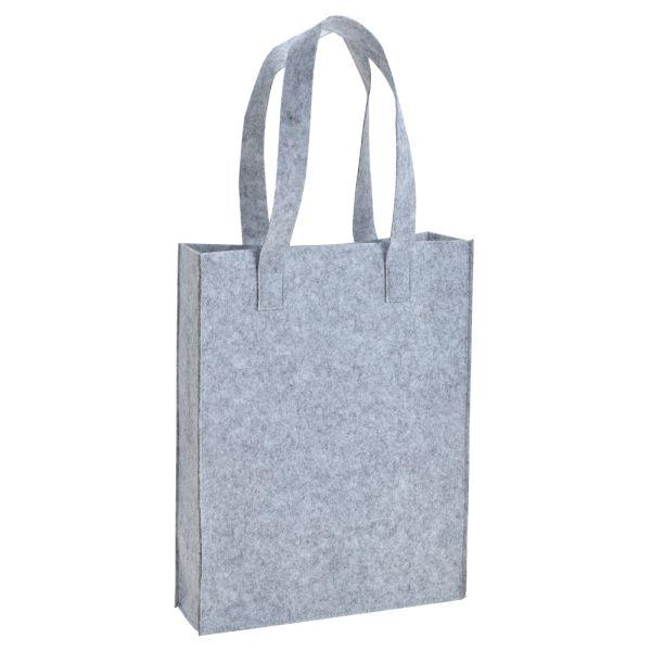 Filz-Tasche mit Henkel hellgrau