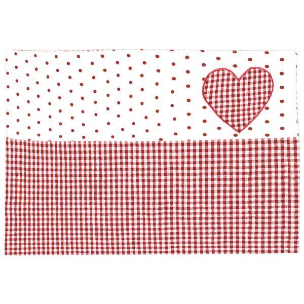 Tischset aus Baumwolle - Landhausstil - rot-weiss kariert
