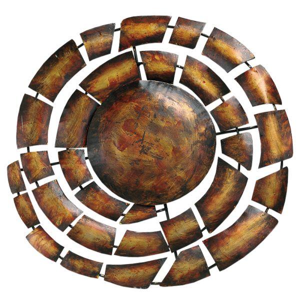 Wandbild Kette braun Metall