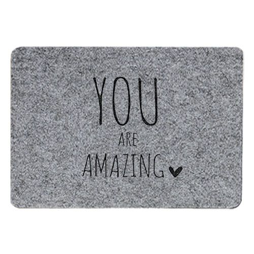 Tischset Filz grau - You are amazing
