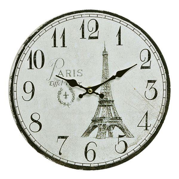 Wanduhr Paris beige