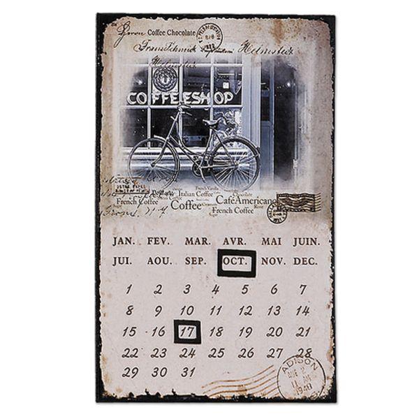 Dauerkalender Metallschild Coffeeshop