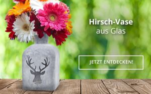 Hirsch-Vase aus Glas