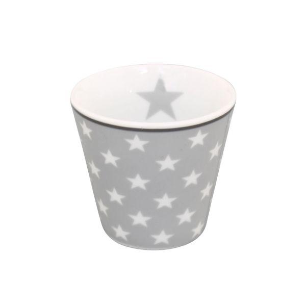 Espressotasse Star hellgrau