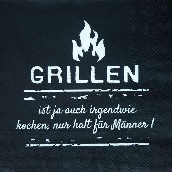 Papier-Serviette schwarz Grillen