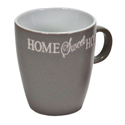 Porzellanbecher Senseo Home Sweet Home grau