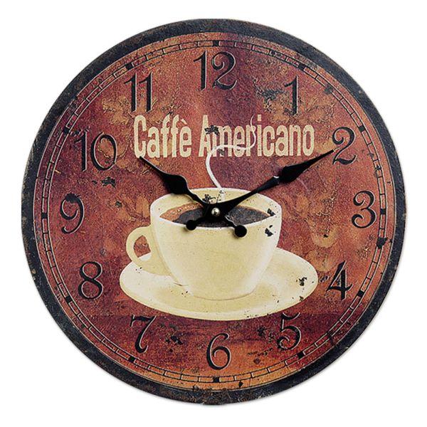 Wanduhr Küchenuhr Caffe Americano
