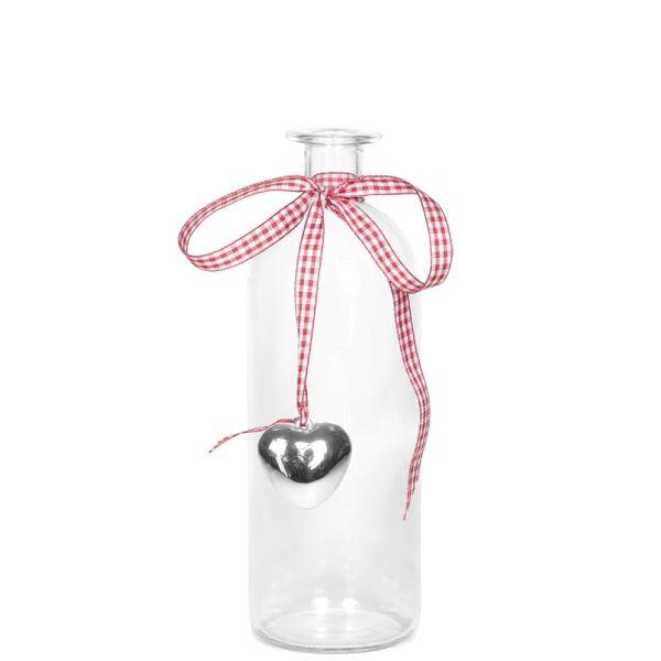 Glas-Vase Landliebe rund 21 cm