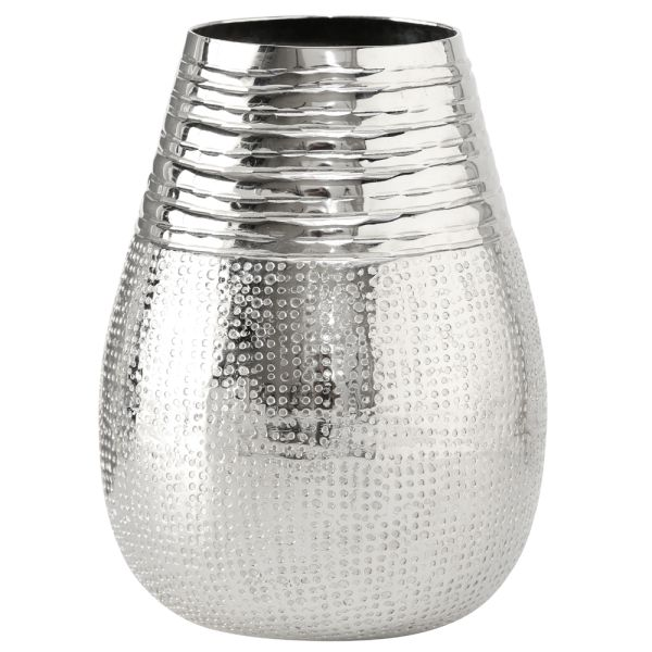 Vase Aluminium rund silber - Kegel