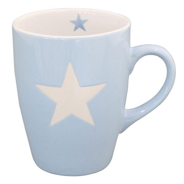 Becher Tasse Star hellblau