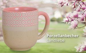 Porzellanbecher Landliebe